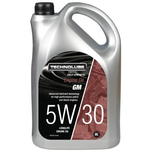 AGT005 Technolube Fully Synthetic 5W-30 GM Engine Oil - 5L