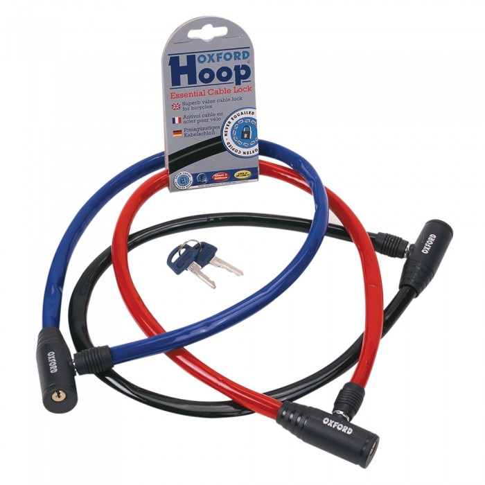 Red Oxford Hoop Essential Cable Lock