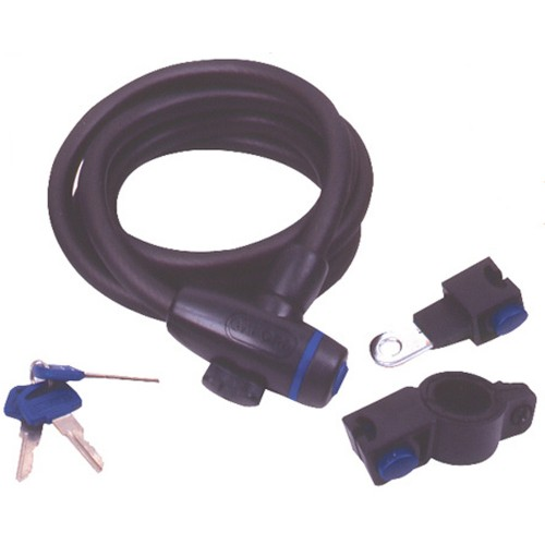 OF246 Oxford Smoke Cable Lock - 12mm x 1.8m