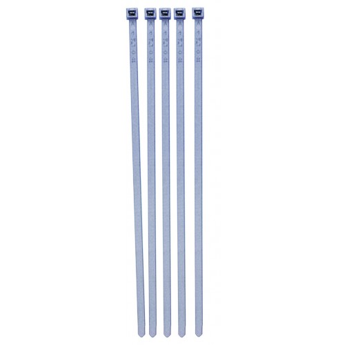 PCT08 Pearl Silver Cable Tie - 100 Pack
