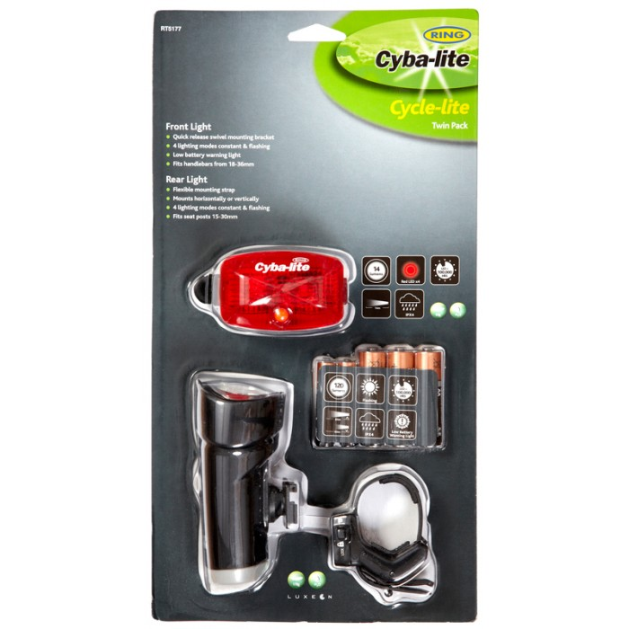 Ring Cyba-Lite LED Twin Pack